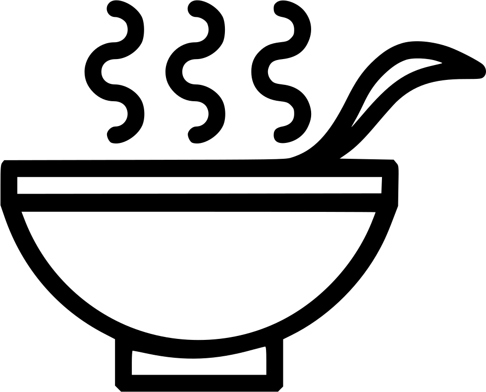 image free Bowl clipart hot soup. Drink healthy spoon svg.