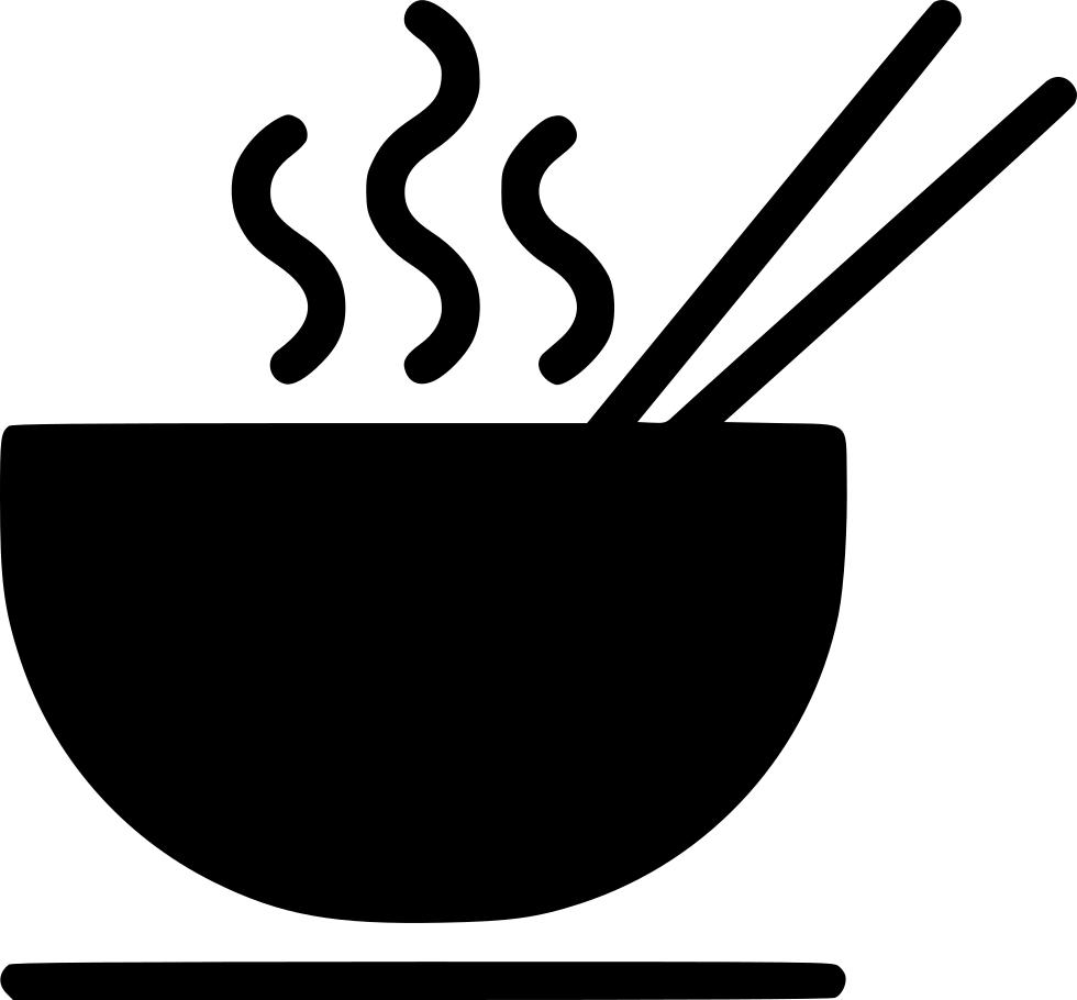 clip art royalty free download Bowl clipart hot soup. Noodle chopstick eat svg