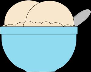 black and white stock Of vanilla ice cream. Bowl clipart winter