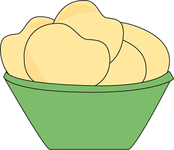 picture download Brownie clipart plain. Bowl of potato chips.