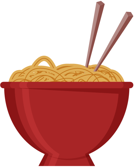 jpg freeuse stock Bowl Of Noodles Clipart