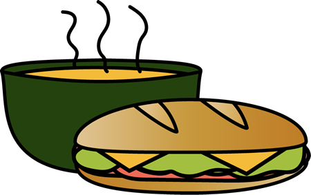 banner royalty free library Sandwich with Bowl of Soup Clip Art
