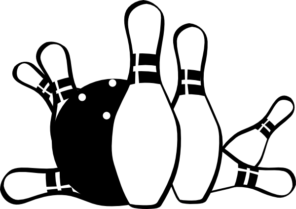 clipart library download Bowling clipart black and white. Striking clip art at