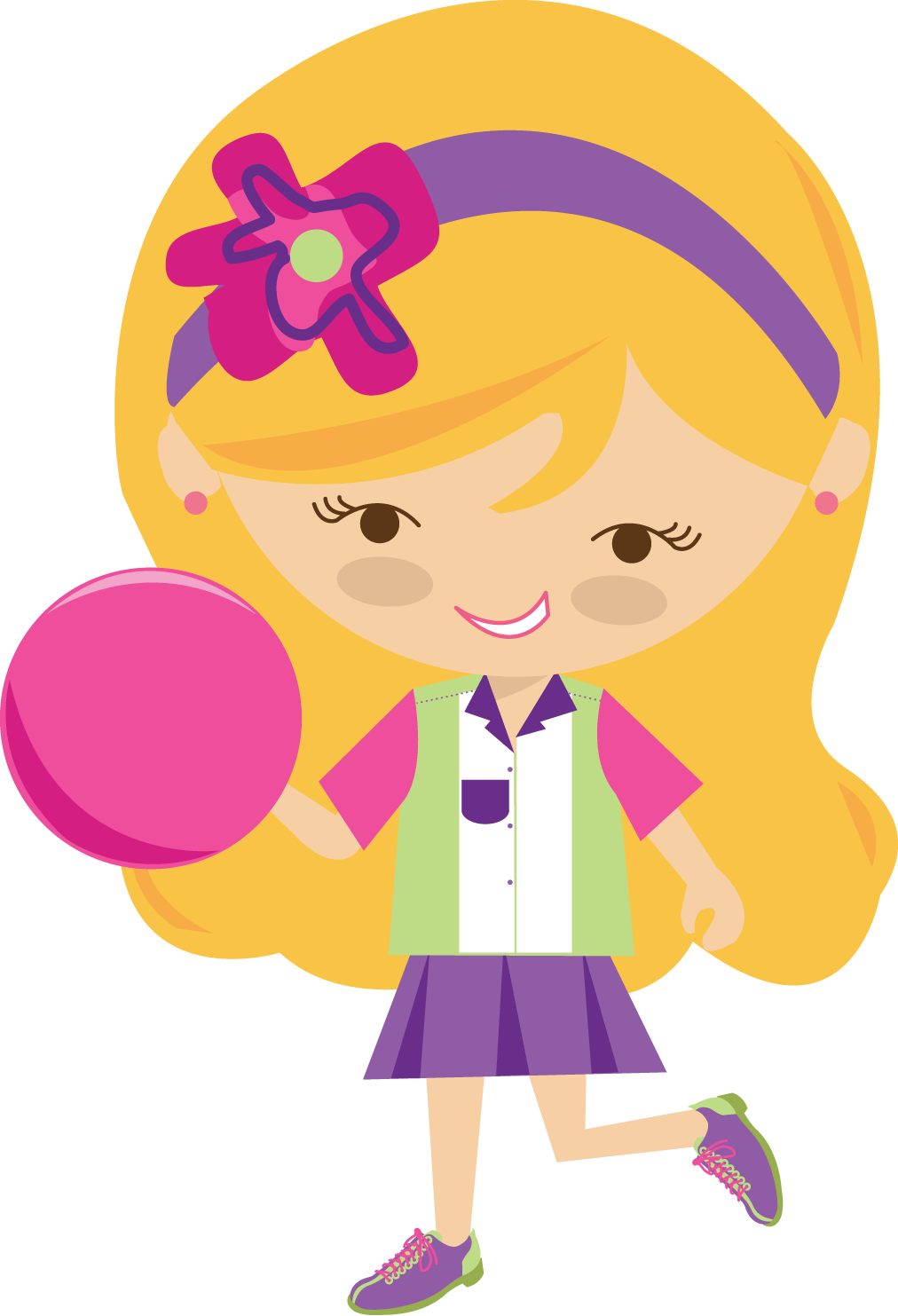 graphic transparent library Girls pretty png p. Bowling clipart boy