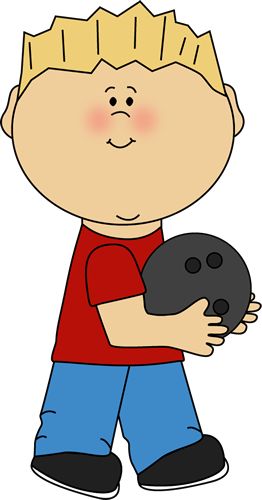 royalty free stock Bowling clipart boy. With ball sports theme