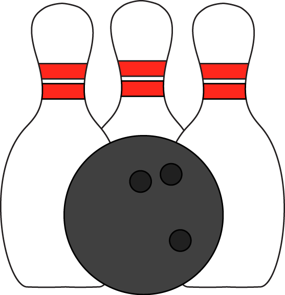 image download Bowling Pins and Ball Clip Art