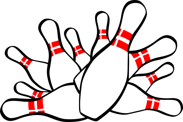 vector black and white stock Bowling Strike Clip Art at Clker