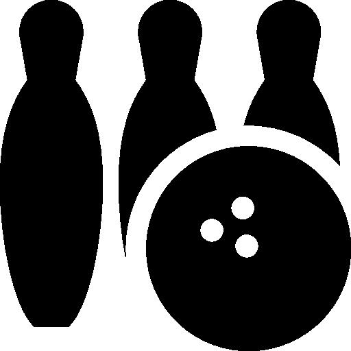 svg free download Three bowling pins and ball