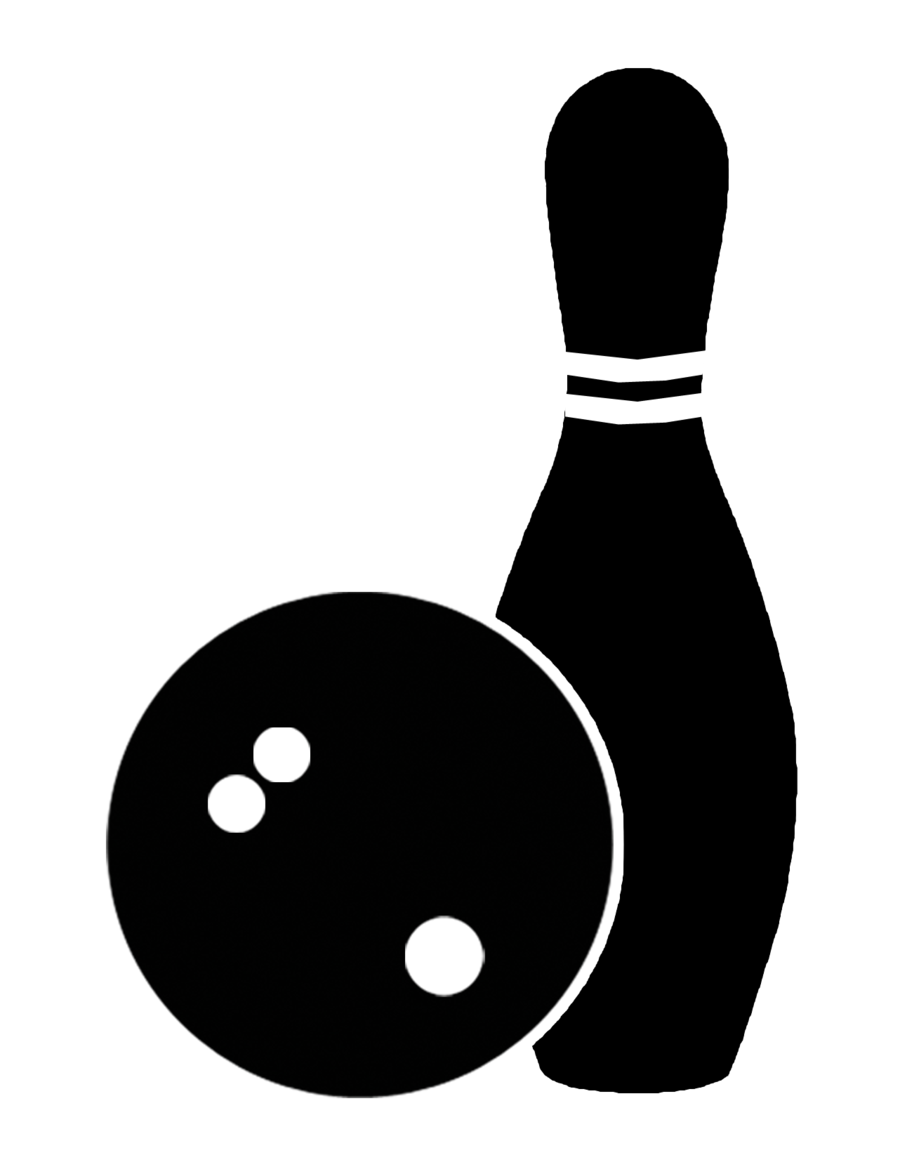 image black and white White background clipart ball. Bowling transparent icon