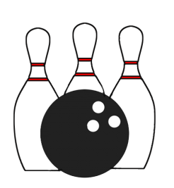 banner transparent library Bowling transparent icon. Background sports cards
