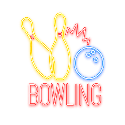 image free Neon bowling sign