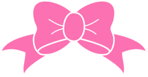 jpg royalty free library Hot pink bow clip. Bows clipart