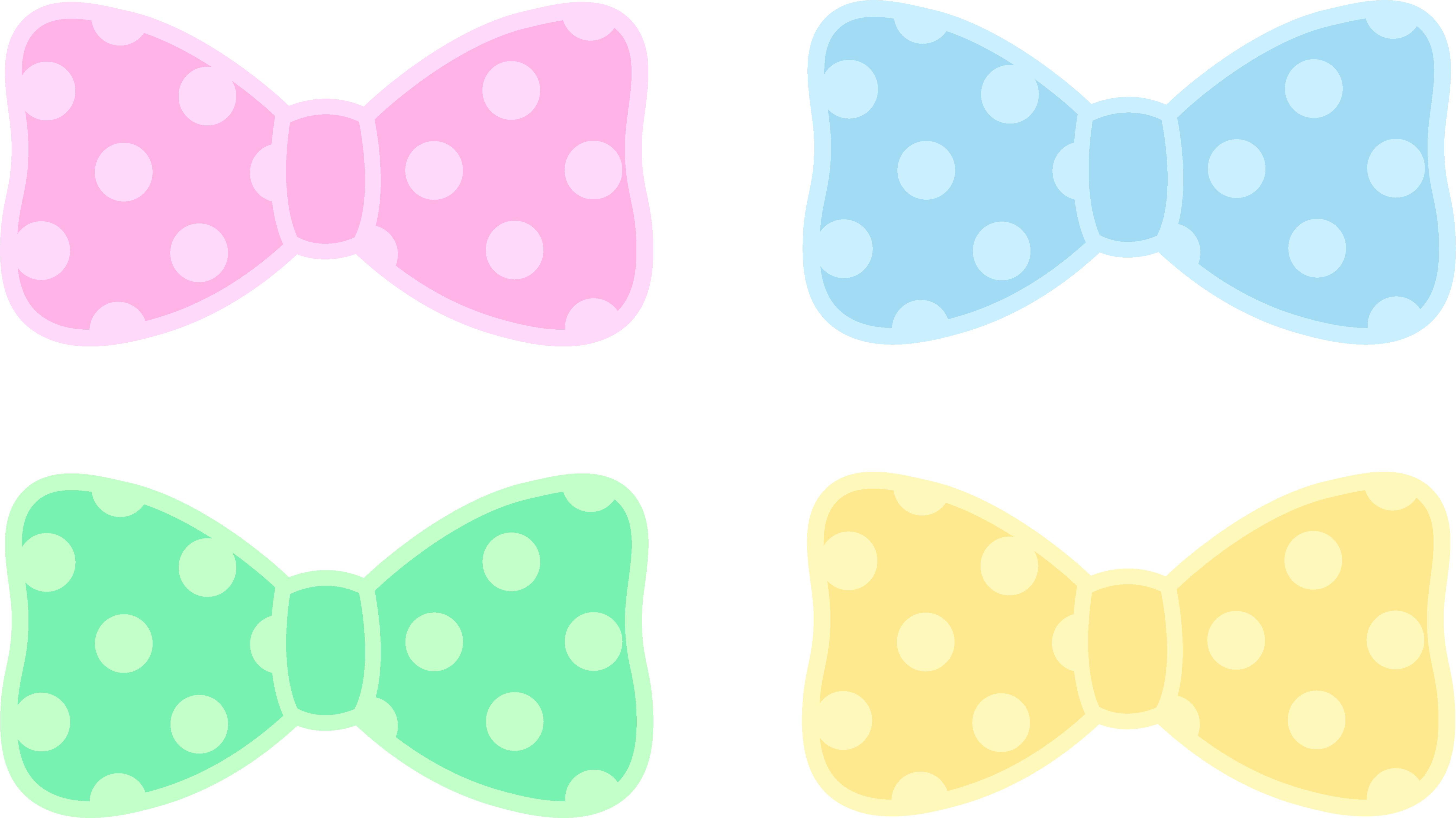 vector library Cute polka dot pastel. Bows clipart.