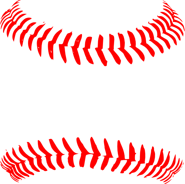 picture library download Bows clipart baseball. Red seams hi png