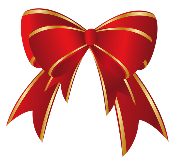 png library library Christmas Red Gold Bow PNG Clipart