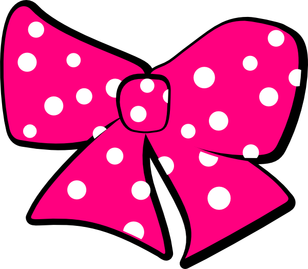 clip transparent library pink minnie mouse bow template