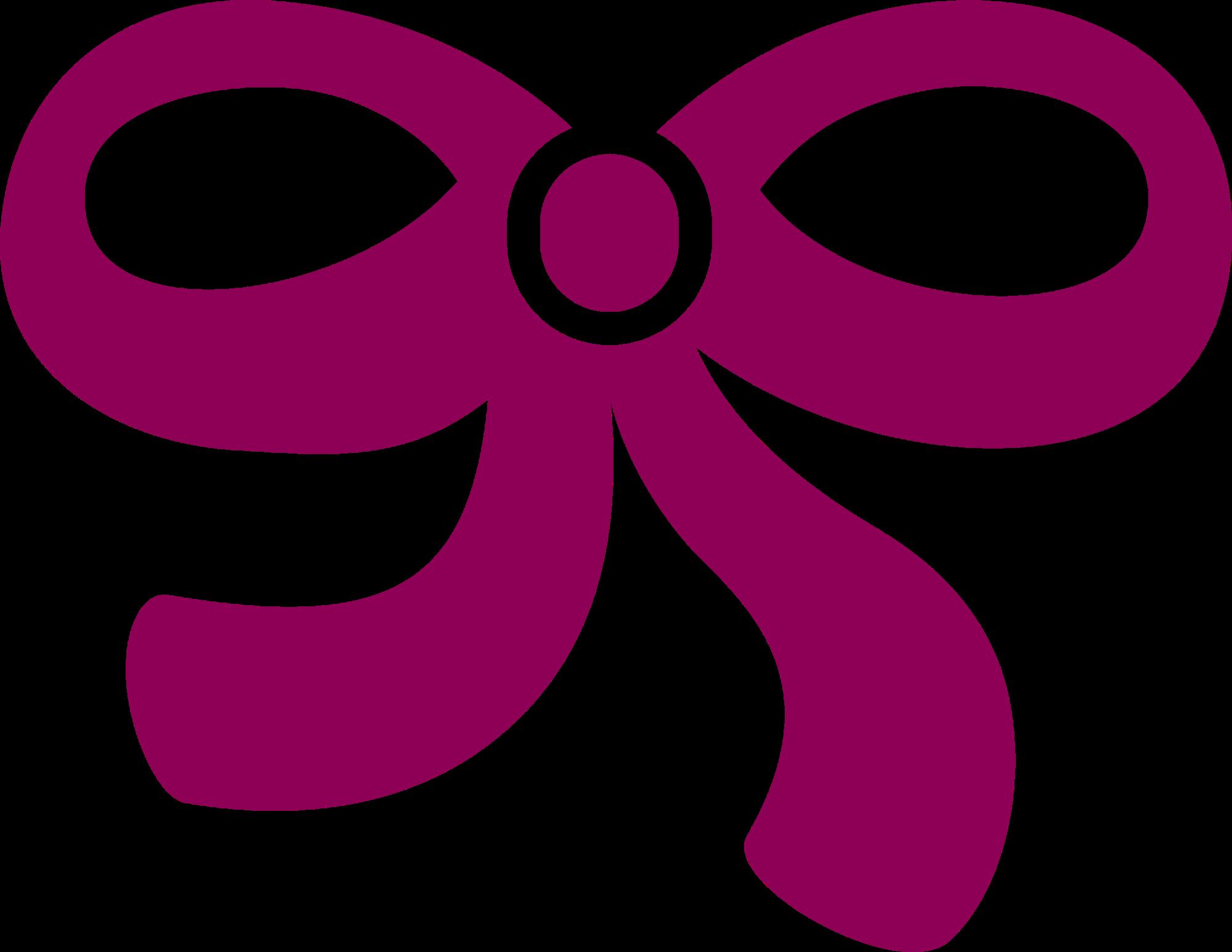 picture Bows clipart knot. Purple shoelace bow tie