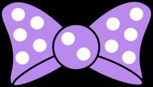 jpg freeuse download Minnie purple bow clip. Bows clipart minie