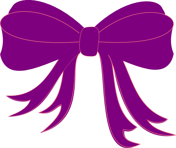 clipart transparent library Purple ribbon clip art. Bows clipart object