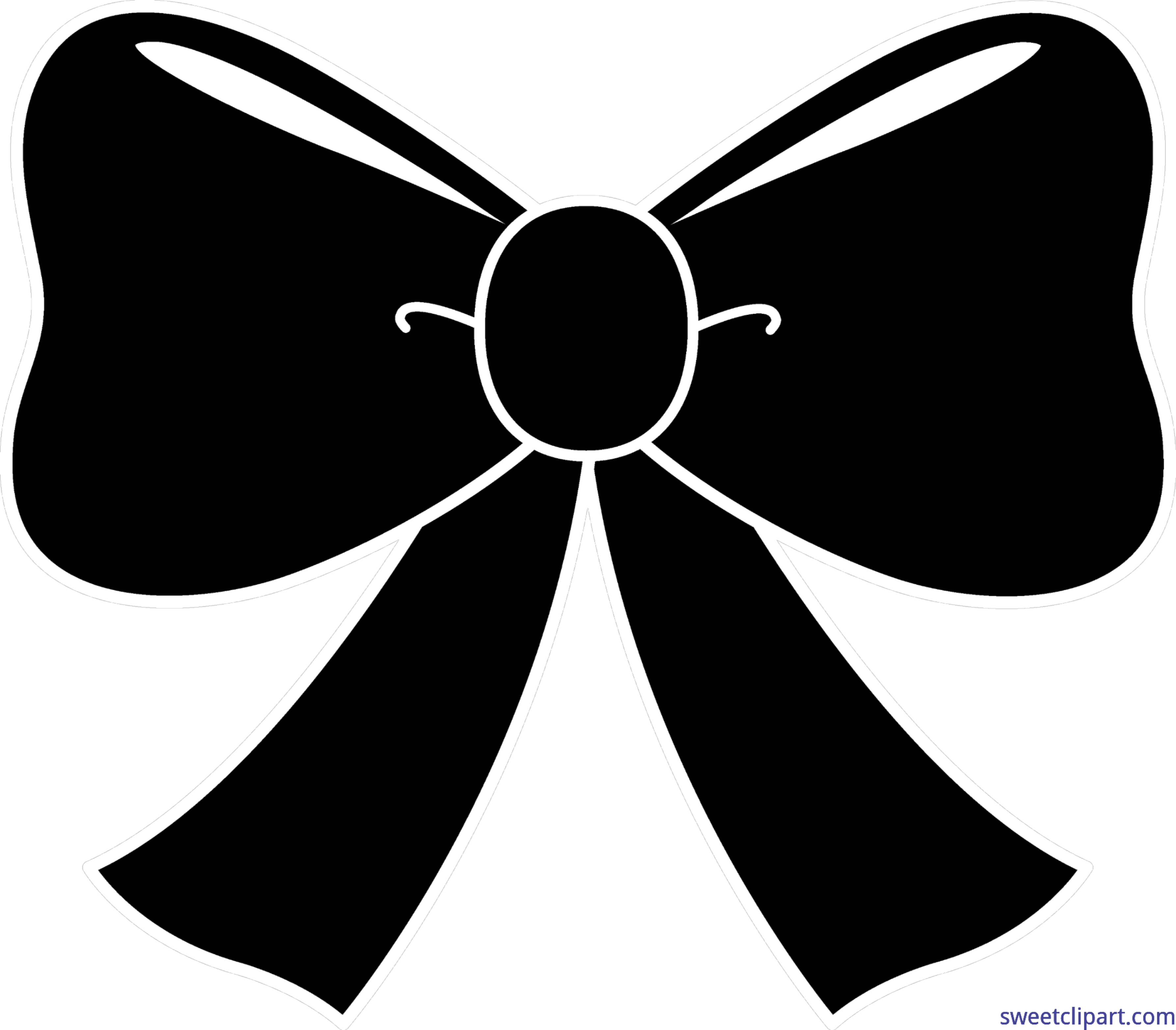 banner freeuse library Black bow silhouette clip. Bows clipart object