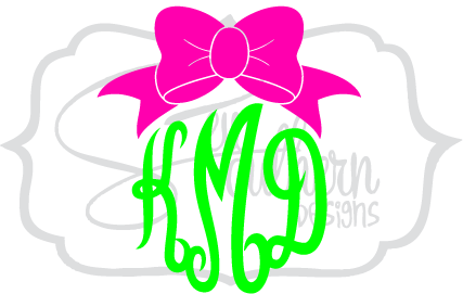 jpg freeuse download Bows clipart southern. Big top bow monogram.