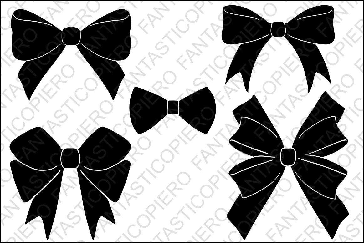 picture black and white library Svg bow. Bows files for silhouette