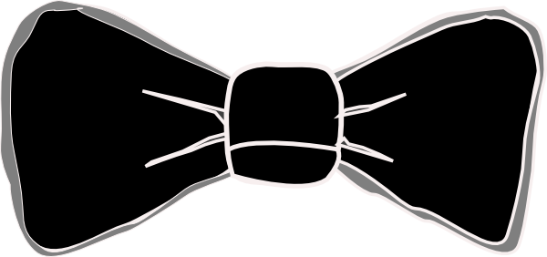 clip art royalty free download Black And Grey Bow Tie Clip Art at Clker