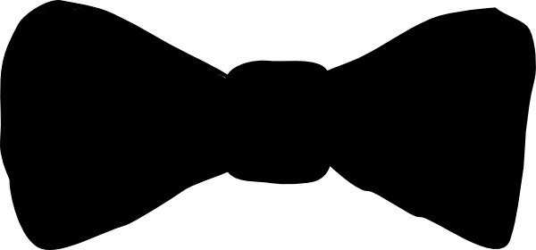 svg black and white library Bow Tie Silhouette Clipart
