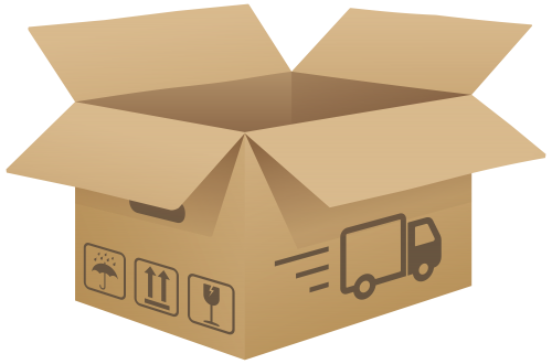 picture free stock Open cardboard png clip. Box clipart