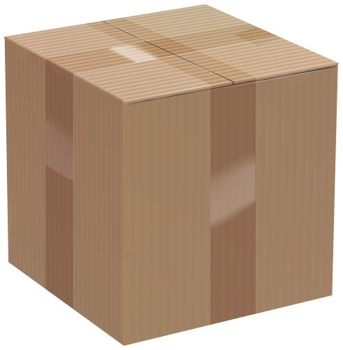 vector royalty free stock Box clipart. Cardboard clip art png