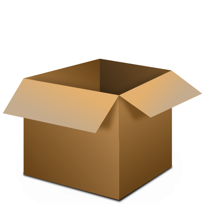 picture royalty free library Boxes clipart. Open box