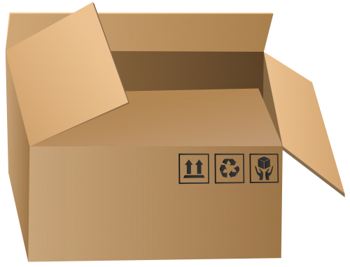 jpg library download Open packaging png clip. Box clipart