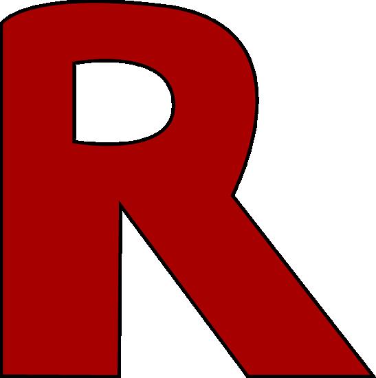 svg free stock Box clipart alphabet. Red letter r ordek.