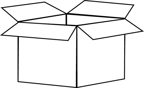 svg transparent Black and White Box Clip Art