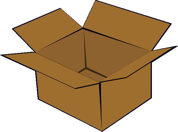 jpg library Cardboard Box Clip Art at Clker