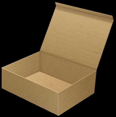 svg black and white stock Open cardboard clip art. Box clipart carton box