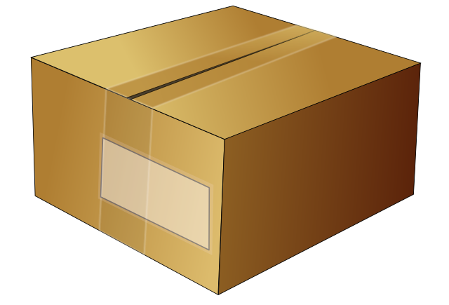 clip transparent stock Box clipart carton box. File simple cardboard svg.