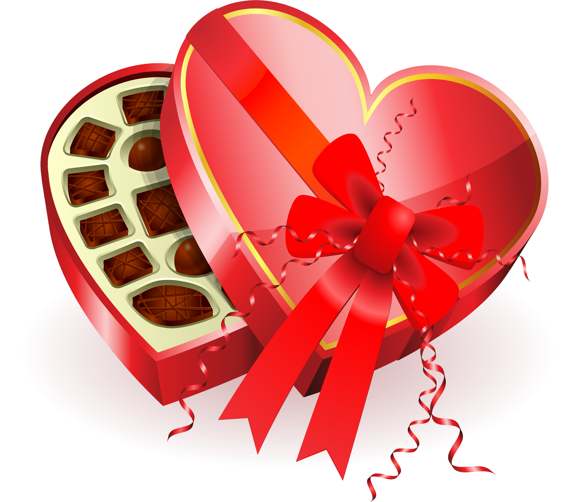picture freeuse download Box clipart chocolates. Large heart gallery yopriceville