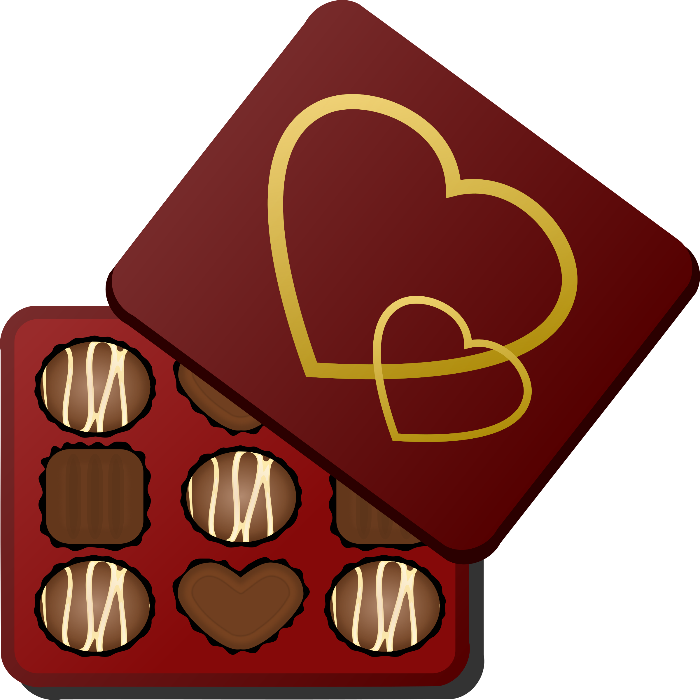 vector download Box clipart chocolates. Of big image png