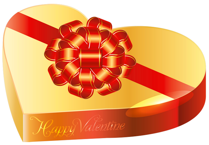 jpg library stock Box clipart chocolates. Gold valentine chocolate png