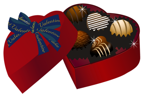 jpg black and white library Box clipart chocolates. Valentine red heart chocolate