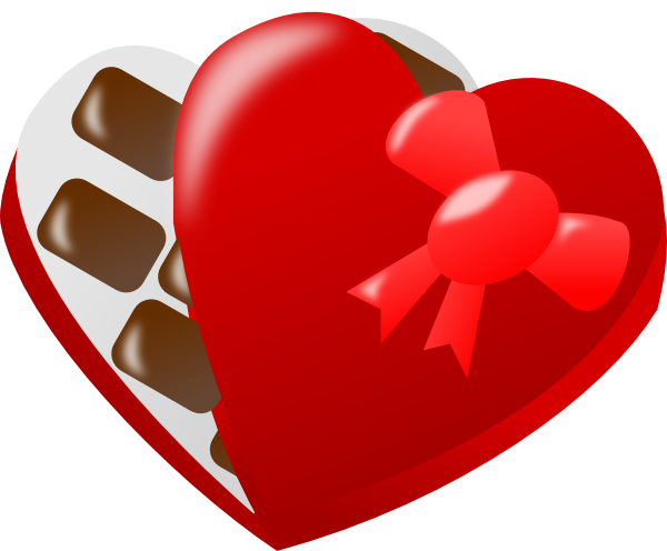 clip art transparent Heart shaped of clip. Box clipart chocolates