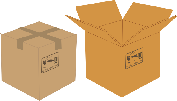 picture royalty free Box clipart closed box. Clip art at clker