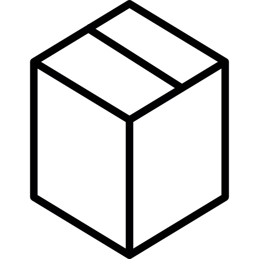 graphic freeuse Closed box carton shapes. Boxes clipart outline