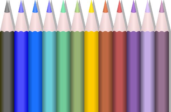 vector stock Box clipart colored pencil. Pencils clip art at.