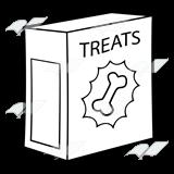 graphic transparent Boxes clipart dog. Abeka clip art treat