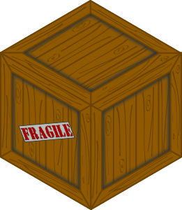 banner royalty free library Isometric wooden crate clip. Box clipart wood box