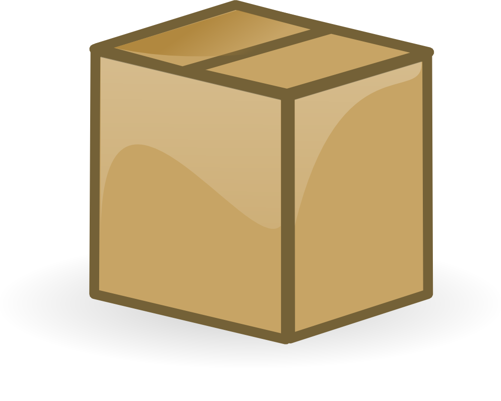 royalty free library Box clipart wood box. Onlinelabels clip art closed