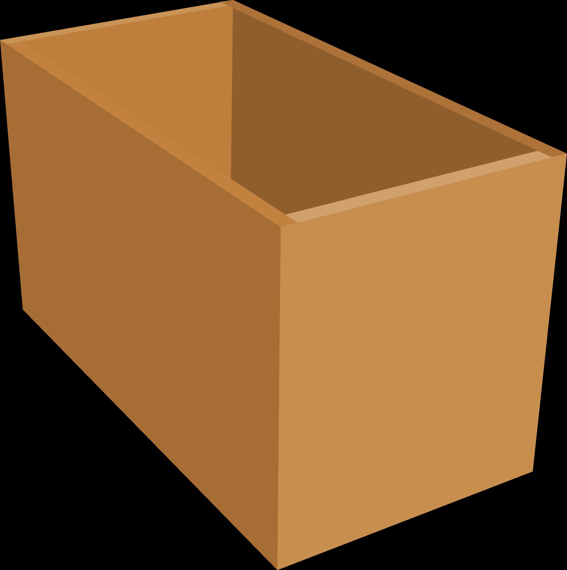 vector transparent stock Thick walls big image. Box clipart wood box.