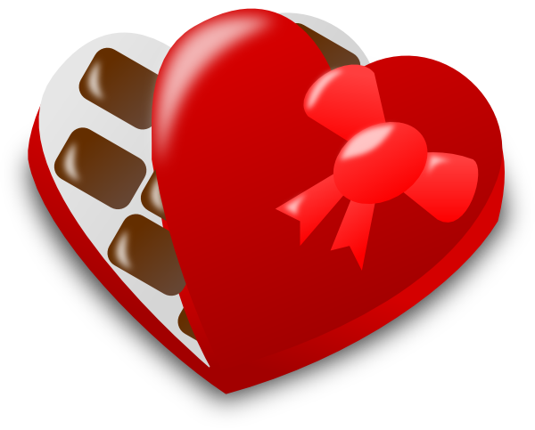 graphic royalty free library Valentine Chocolate Box Clip Art at Clker